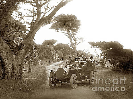 California Views Archives Mr Pat Hathaway Archives - Royal Tourist touring car model G3 at Cypress Grove in Pebble Beach circa 1906