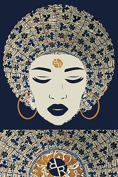 Rubino Afro Woman by Tony Rubino