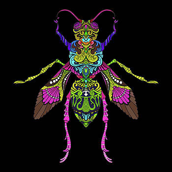 Rubino Bug Wasp Bee Insect by Tony Rubino