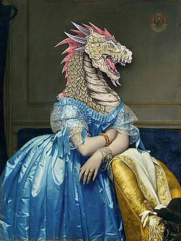 Rubino Dragon Woman Portrait Mother of Dragons by Tony Rubino