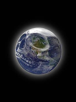 Rubino Earth Planet Skull by Tony Rubino