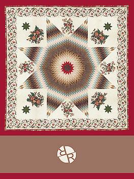 Rubino Mandala Design Pattern Dark Red by Tony Rubino