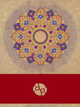 Rubino Mandala Design Pattern Red by Tony Rubino