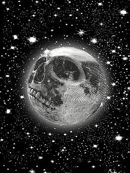 Rubino Moon Planet Skull by Tony Rubino