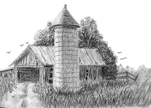Rural Barn and Silo by Barry Jones