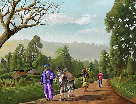 Rural Life by Anthony Mwangi