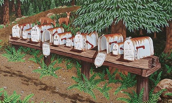 Rural Mail Boxes by Katherine Young-Beck