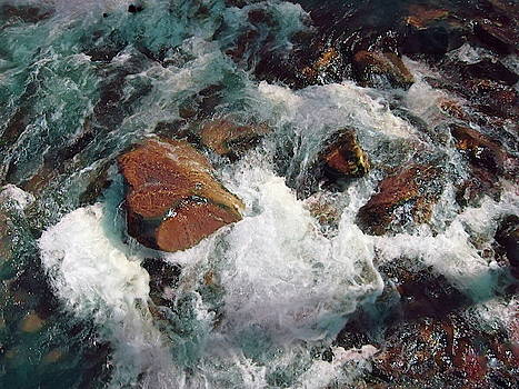 Rushing Water Abstract by Betsy Cullen