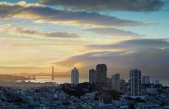 Russian Hill And The Golden Gate San Francisco by Steve Gadomski