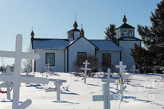 Russian Orthodox Church Ninilchik Alaska by Louise Heusinkveld