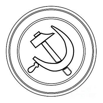 Russian Round Pin Badge by Bigalbaloo Stock