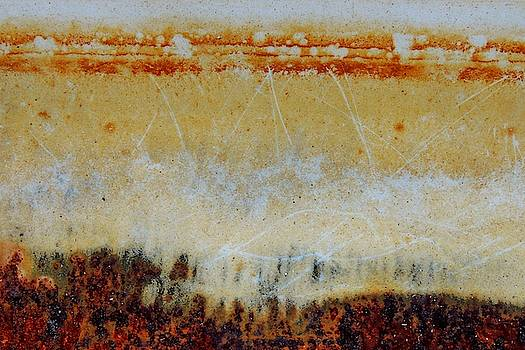 Rust and Enamel Abstract. by Denise Clark