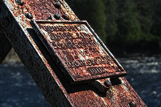 Rusty Plaque by Maggy Marsh