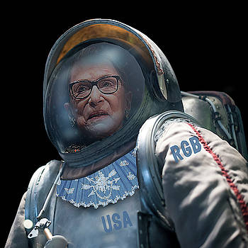 Ruth Bader Ginsburg In Space Astronaut by Tony Rubino