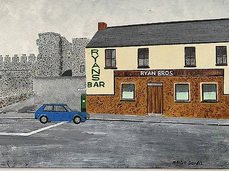 Ryans Pub And Swords Castle Painting by Martin Dardis