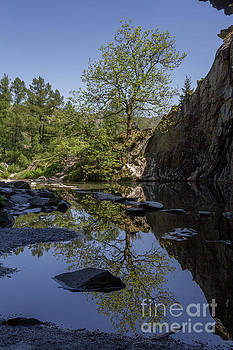 Rydal Cave Reflections by SJ Elliott Photography