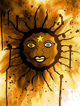 Sacred Blazing Sun by Abstract Angel Artist Stephen K