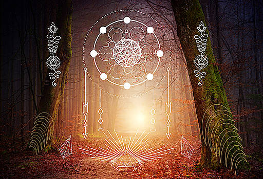 Sacred Geometry Artwork by Nathalie DAOUT