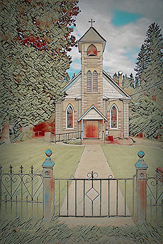Sacred Heart Catholic Church, Ft Jones, CA - Impression by Mick Anderson