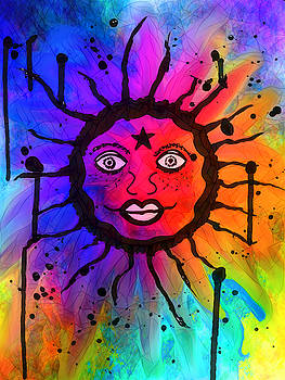 Sacred Sun by Abstract Angel Artist Stephen K