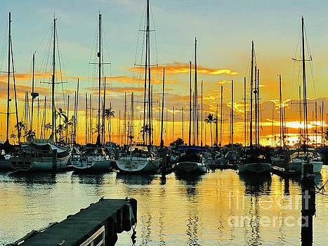 Sail boat sunset by Micah May