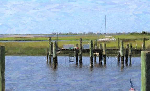 Sailboat And Boat Docks 2 by Cathy Lindsey