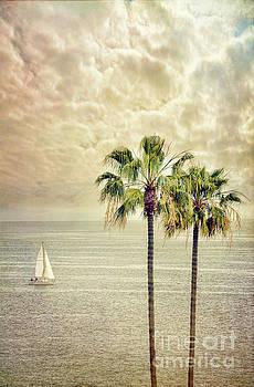 Jill Battaglia - Sailboat and Palm Trees