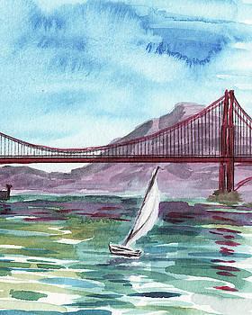 Sailboat In San Francisco Bay by Irina Sztukowski