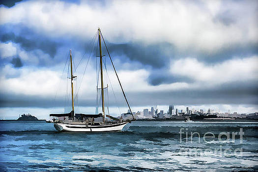 Lisa Lemmons-Powers - Sailboat in Sausalito-Version 2