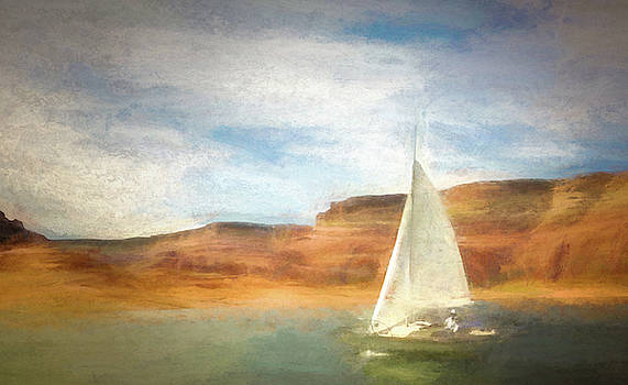 Sailboat On Lake Powell by Robert Meyerson