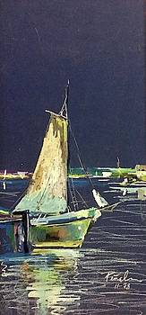 Sailboat on San Francisco Bay by Ricardo Penalver