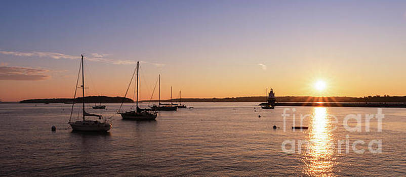 Sailboats and Spring Point Light by Michael Ver Sprill
