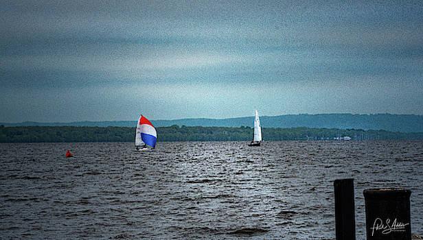 Sailboats Sharing by Phil S Addis