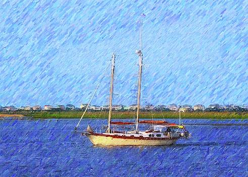 Sailing At Southport 2 by Cathy Lindsey