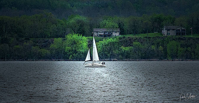 Sailing at Twilight  by Phil S Addis