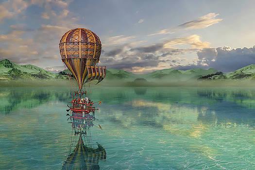 Sailing Away Daydream Steampunk by Betsy Knapp