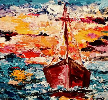 Sailing in a Storm by Carol Stanley