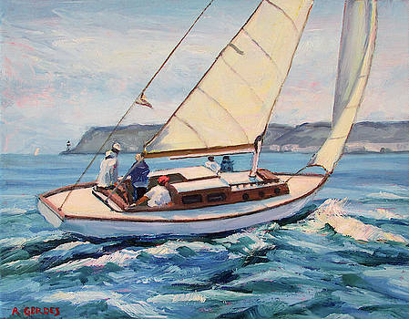 Sailing off  Point Loma, San Diego by Robert Gerdes