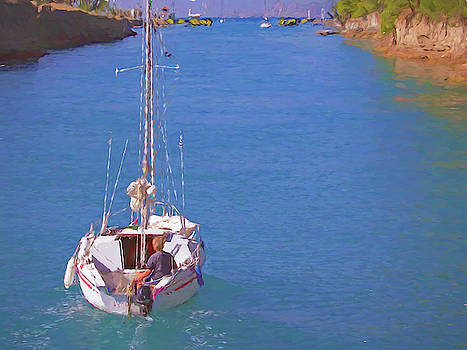 Sailing The Corinth Canal by Susan Lafleur