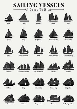 Sailing Vessel Types and Rigs by Zapista Zapista