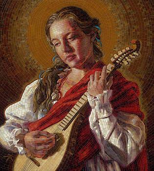 Saint Cecelia Mosaic by Mia Tavonatti