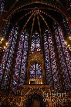 Wayne Moran - Sainte Chapelle Paris France Stained Glass Vertical