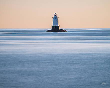 Sakonnet Point Lighthouse Little Compton RI Color by David Gordon