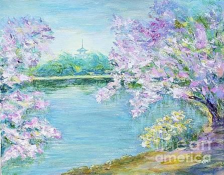 Sakura is in a beautiful park of Japan by Olga Malamud-Pavlovich