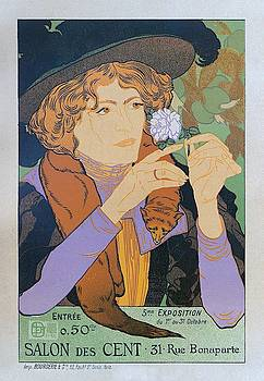 Salon des Cent, 1894 Vintage French Poster by Georges de Feure