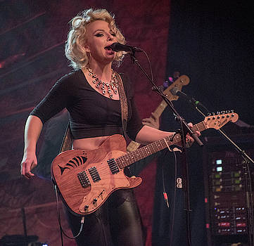 Samantha FishSamantha Fish and her Fish Guitar by Alan Goldberg