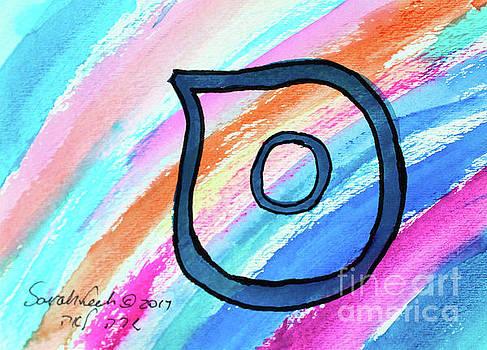 SAMECH in BLUE s3 by Hebrewletters Sl
