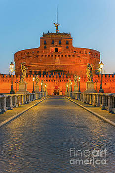 San Angelo Bridge and Castel Sant Angelo, Rome, Italy by Henk Meijer Photography