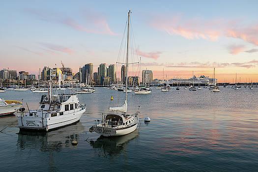 Robert VanDerWal - San Diego North Harbor At Sunset