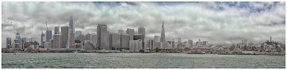 San Fran Panorama with faded color by Debby Richards